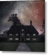 Manor At Night Metal Print