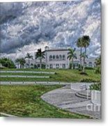 Mansion At Tuckahoe In Jensen Beach Florida Metal Print