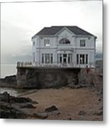 Mansion By The Sea Metal Print