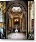 Mansion Hallway Triptych Metal Print by Adrian Evans