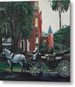 Mansion On Forsythe Savannah Georgia Metal Print