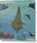 Manta Ray Metal Print by ACE Coinage painting by Michael Rothman
