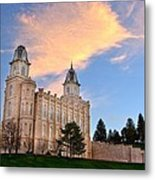 Manti Temple Morning Metal Print