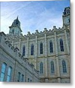 Manti Temple North Metal Print