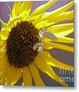 Mantis And The Flower Metal Print