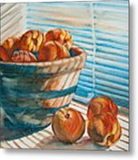 Many Blind Peaches Metal Print by Jani Freimann