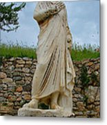 Many Sculptures Lost Their Heads In Ephesus-turkey Metal Print
