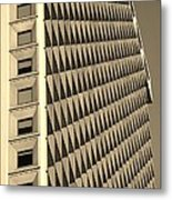 Many Windows In Sepia Metal Print