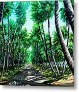 Manzanilla Coconut Estate Metal Print