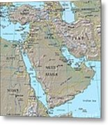 Map - Middle East Metal Print