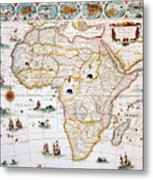 Map Of Africa, 1630 Metal Print