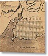 Map Of Alexandria 1798 Metal Print