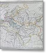 Map Of Europe In The Middle Ages Metal Print