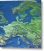 Map Of Europe Metal Print