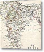 Map Of India Metal Print