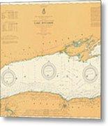 Map Of Lake Ontario 1904 Metal Print