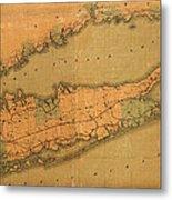 Map Of Long Island 1888 Metal Print