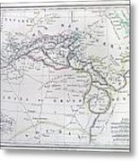 Map Of North Africa Or Barbary Metal Print