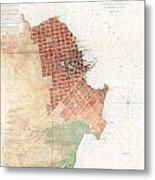 Map Of San Francisco California Metal Print