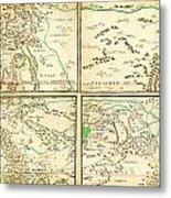 Map Of Spanish Holdings In North America 1769 Metal Print