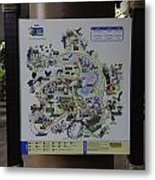 Map Of The Jurong Bird Park Along With A Tourist Metal Print