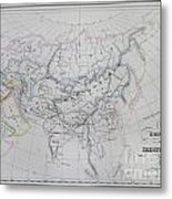 Map Of The Mongol Empire In Asia And Europe Metal Print