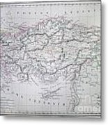 Map Of Turkey Or Asia Minor In Ancient Times Metal Print