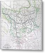 Map Of Turkey Or The Ottoman Empire In Europe Metal Print