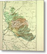 Map Of Vaucluse France Metal Print