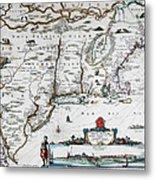 Map Of Virginia - 1665 Metal Print
