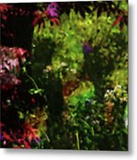 Maple Leaves And Daisys Metal Print