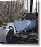 Maple Sap Collected Metal Print