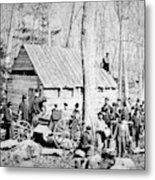 Maple Sugar Party, C1900 Metal Print