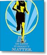 Marathon Runner First Retro Poster Metal Print
