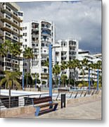 Marbella Apartment Buildings Metal Print