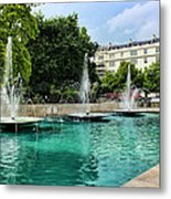 Marble Arch Fountains  Metal Print