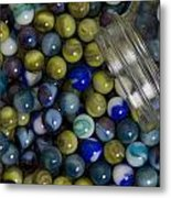 Marble Collection Jar 1 A Metal Print