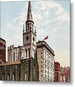 Marble Collegiate Church Holland House New York Metal Print