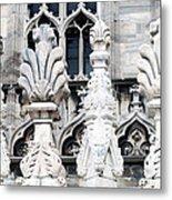 Marble Facade II Duomo Di Milano Italia Metal Print