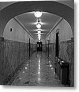 Marble Hallway Metal Print