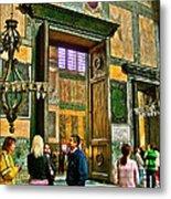Marble Of Many Colors In Saint Sophia's In Istanbul-turkey Metal Print