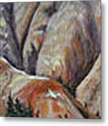 Marble Ridge Metal Print