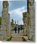 Marble Way From Theater To Central Ephesus-turkey Metal Print