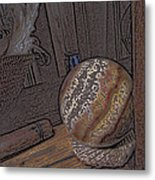 Marbled Ball Metal Print