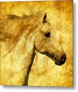 Marbled War Horse Metal Print