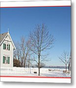 Marblehead Lighthouse In Snow Metal Print