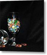 Marbles And Glass Metal Print