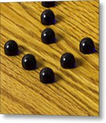 Marbles Arrow Blue 1 Metal Print