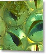 Marbles Cat Eyes Soda 1 D Metal Print