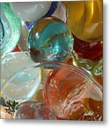 Marbles In A Jar Metal Print by Mary Bedy